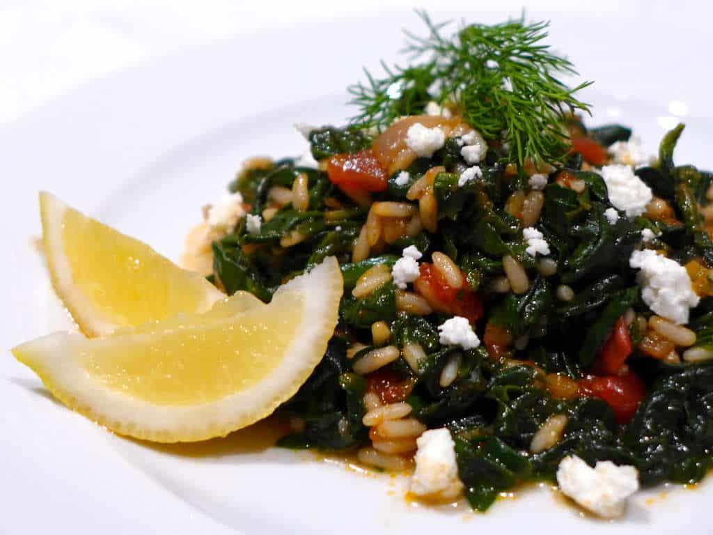 Beachmere Blog: Spanakorizo -- bush tucker style Greek spinach & rice ...