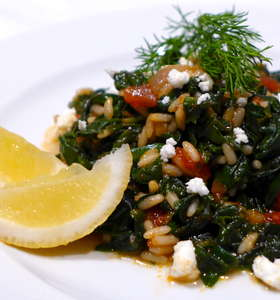 Spanakorizo recipe (Greek spinach rice)