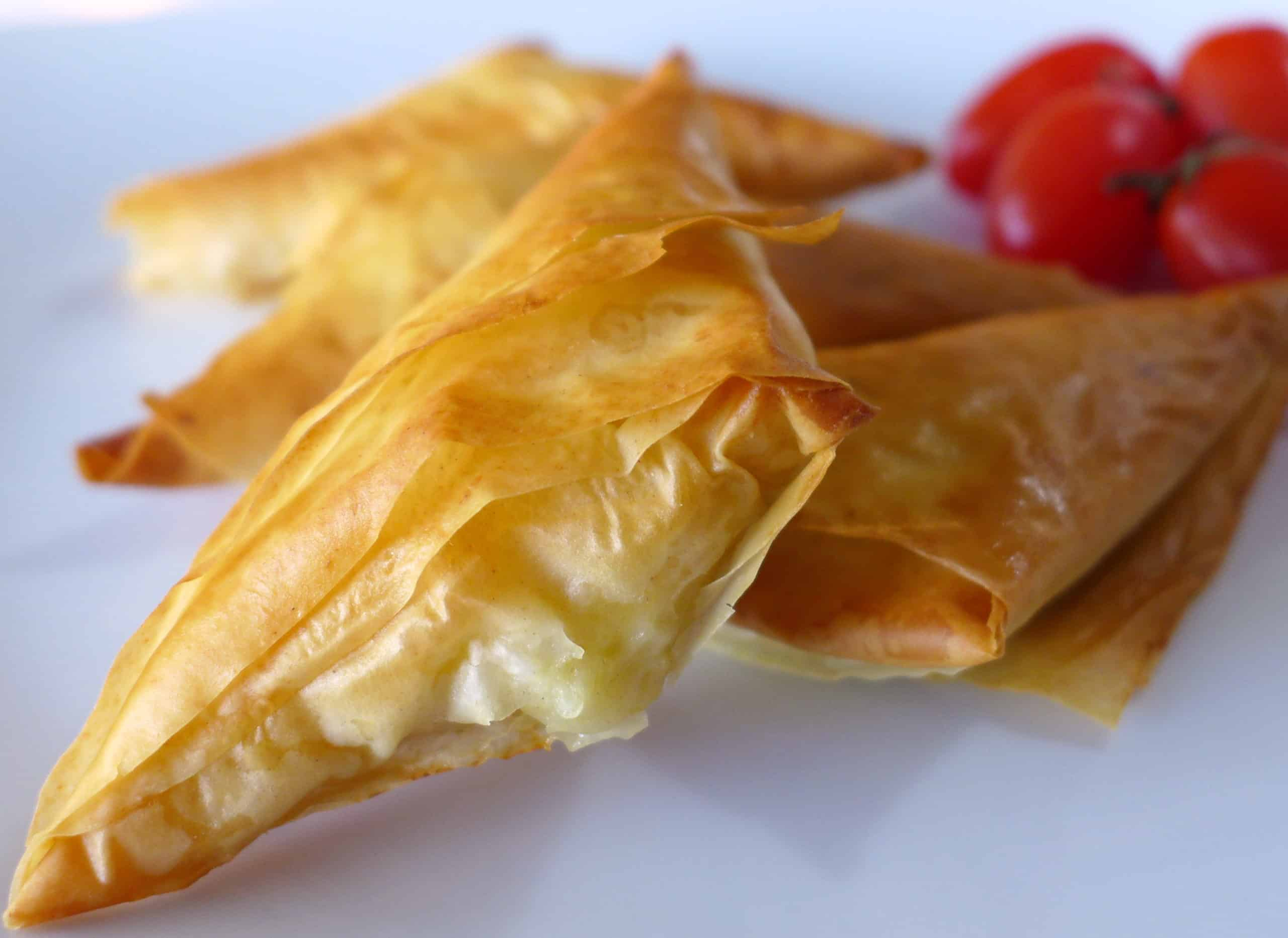 Tiropitakia recipe (Greek Feta Cheese Triangles)