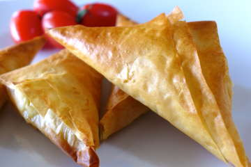 Tiropitakia recipe (Greek Feta Cheese Triangles)