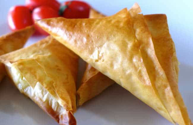 Greek Feta Cheese Triangles Recipe (