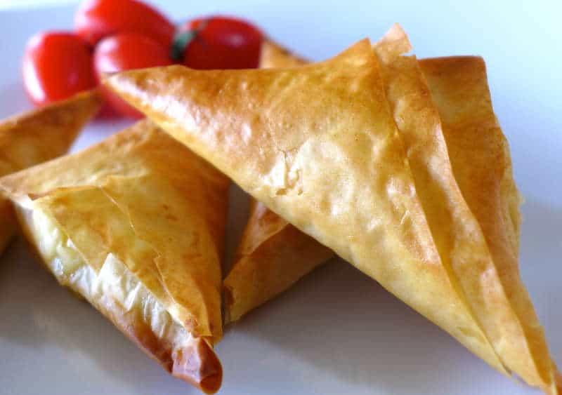 Greek Feta Cheese Triangles Recipe (Tiropitakia)