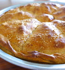 Traditional Greek Leek Pie recipe (Prasopita)