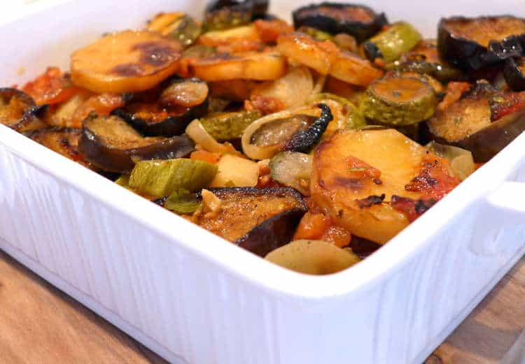 Briam recipe (Greek mixed Roasted Vegetables)