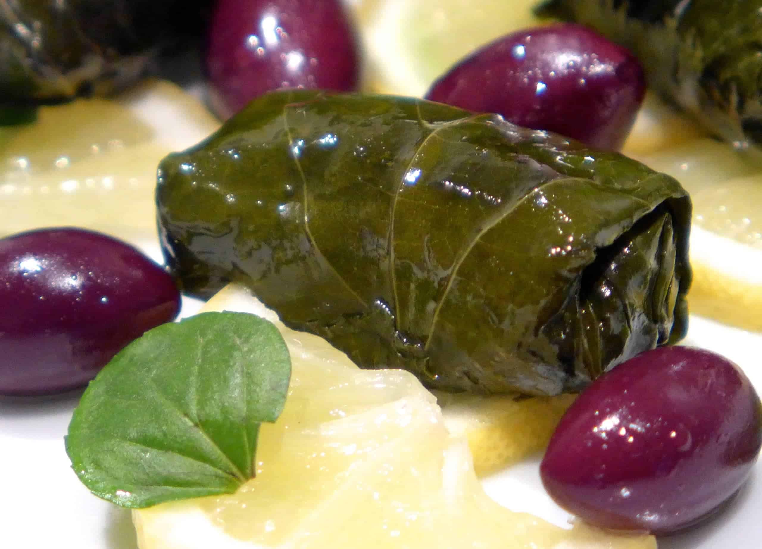 Greek Dolmades Recipe Stuffed Vine Grape Leaves Dolmathes My Greek Dish