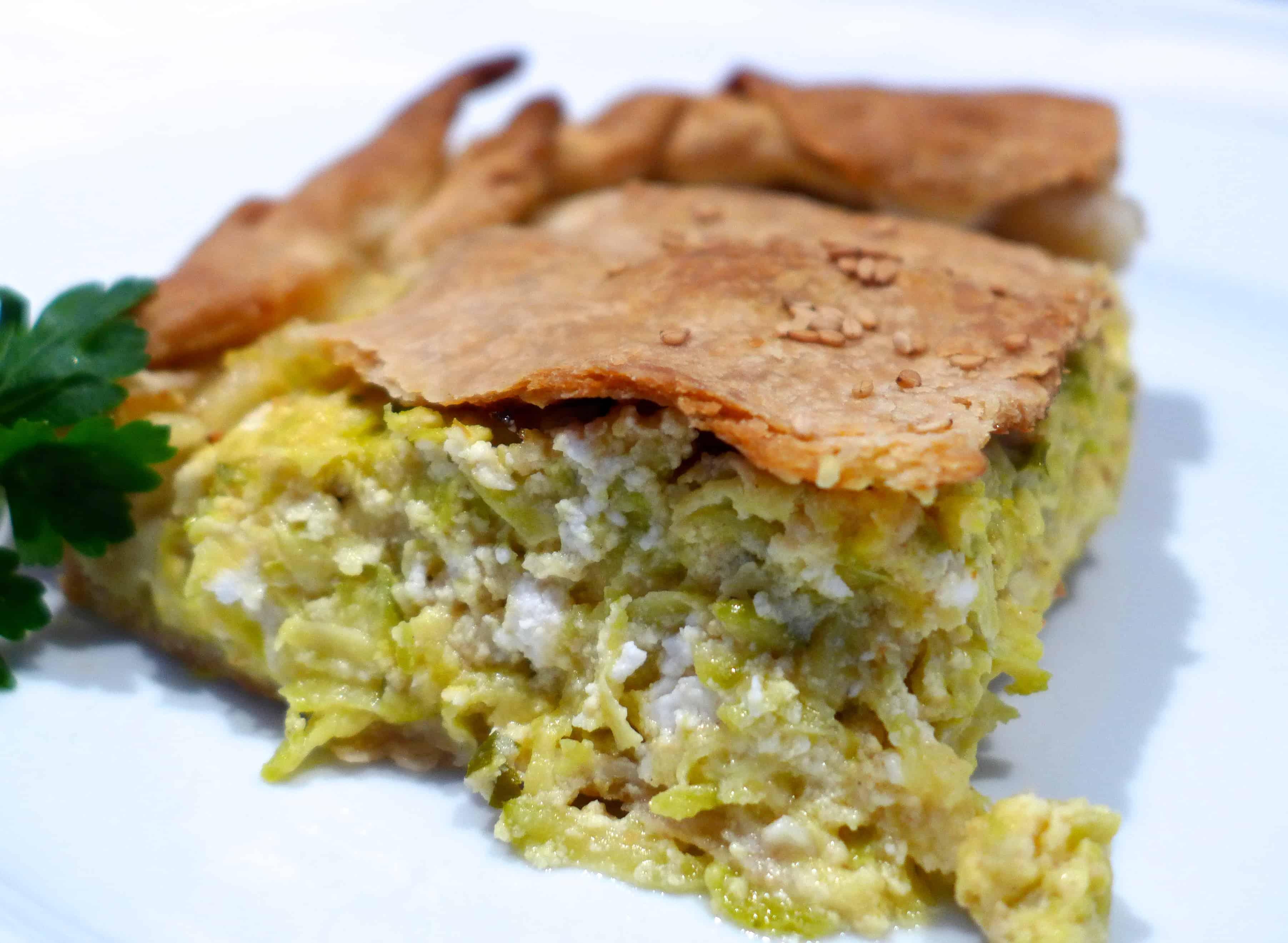 Kolokithopita recipe with homemade Phyllo (Greek Zucchini pie