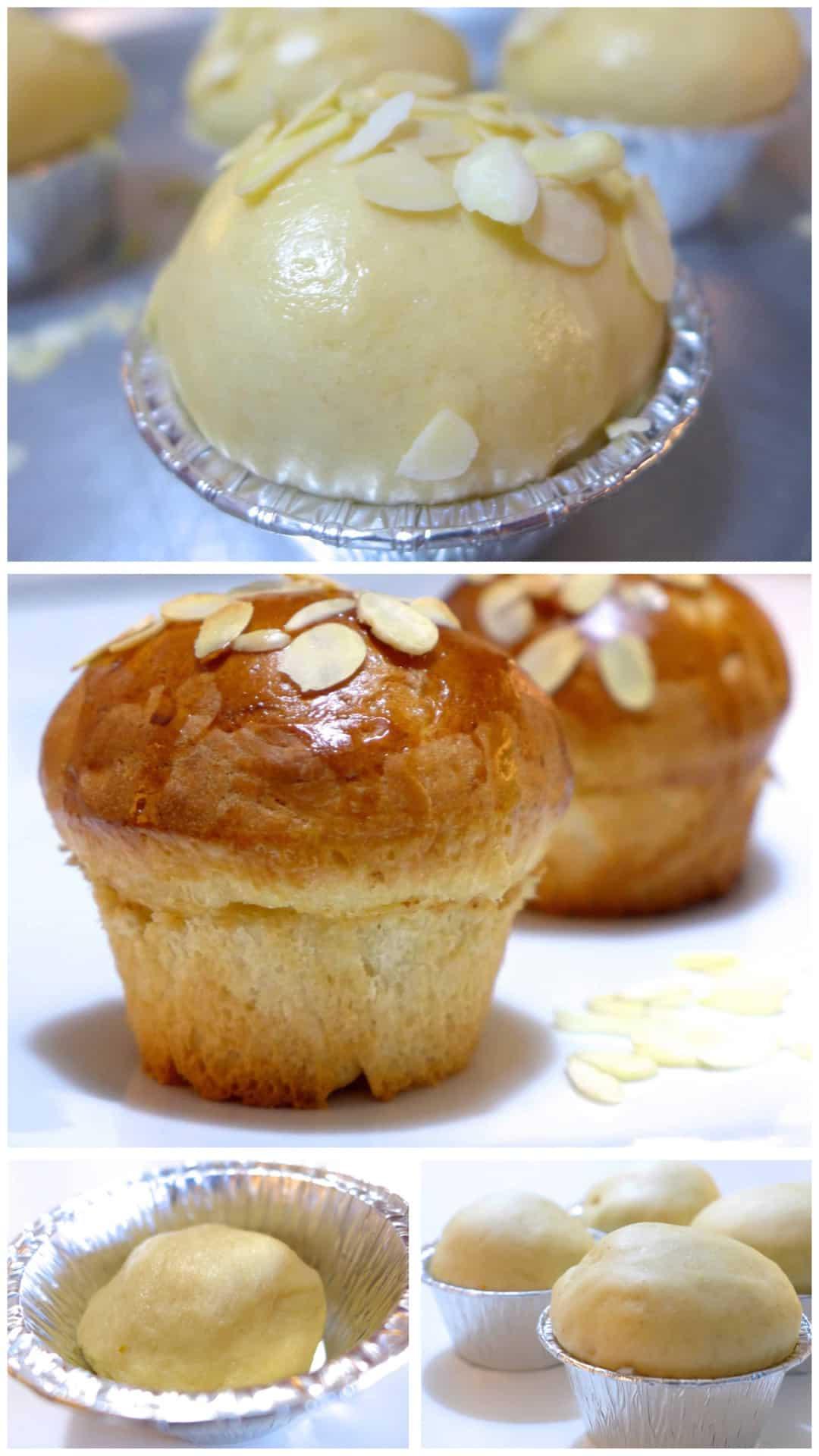 Tsoureki Muffins Preparation