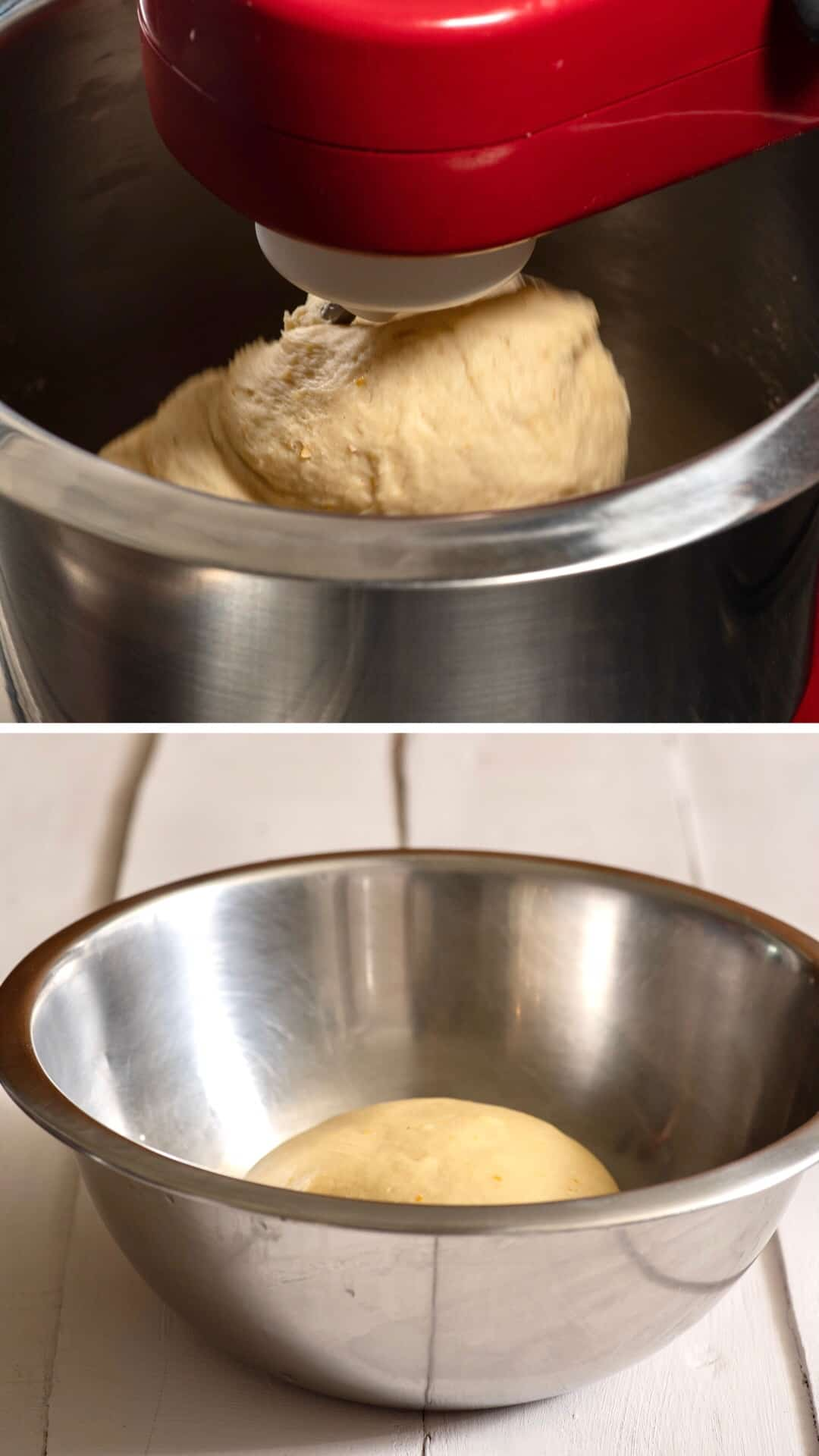 Tsoureki recipe preparing the dough