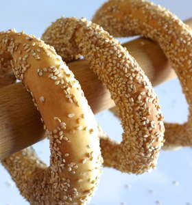 Greek Sesame Bread rings recipe (Koulouri Thessalonikis)