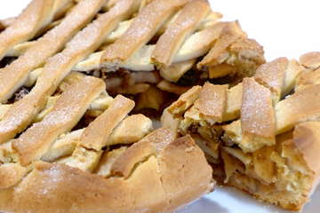 Lenten Greek Apple pie (Milopita)