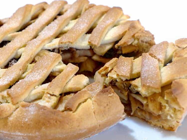 Lenten Greek Apple pie (Milopita)
