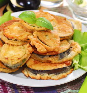 Crispy Greek Fried Eggplant recipe (Melitzanes tiganites)
