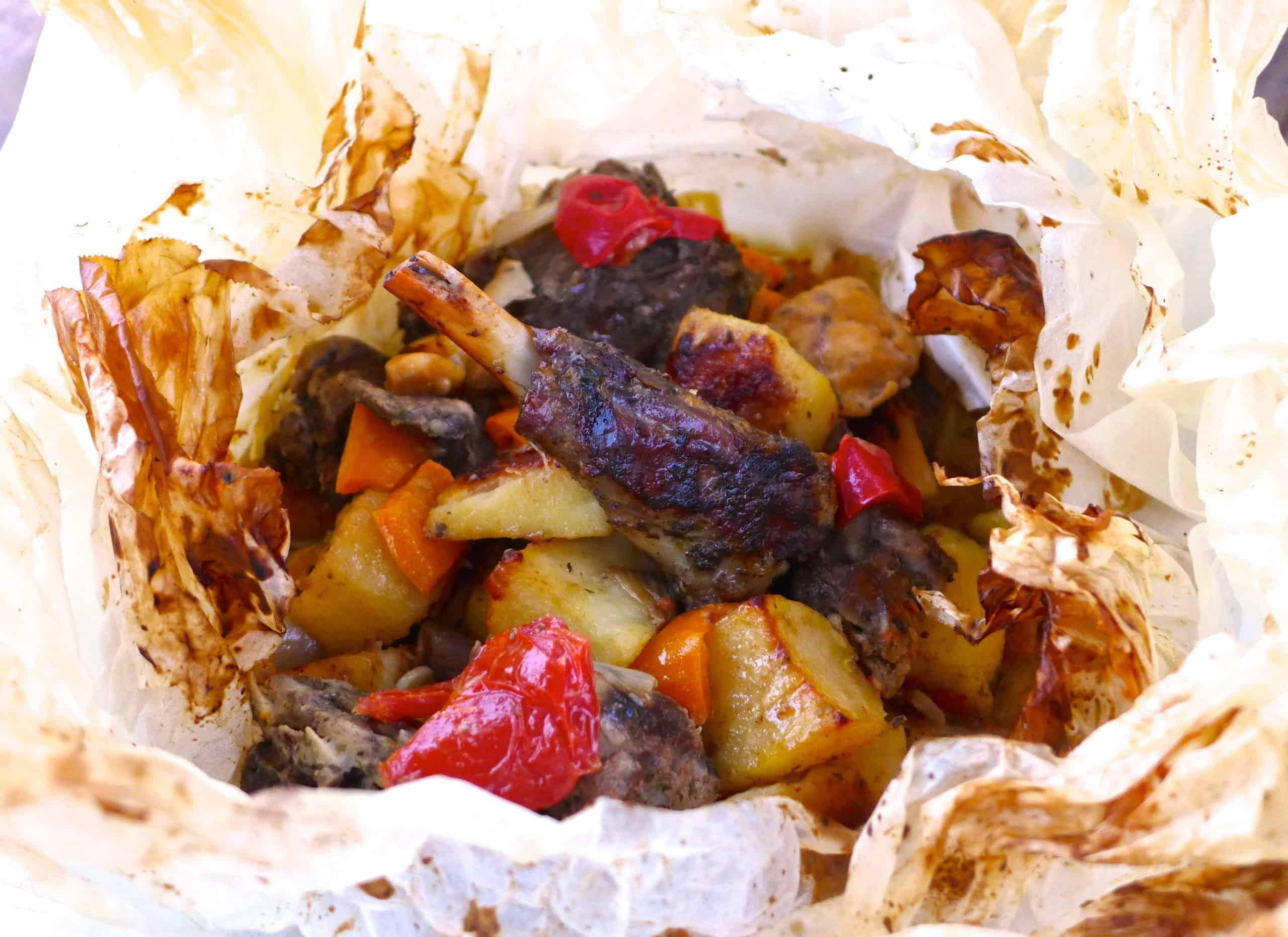 lamb chop kleftiko recipe Lamb Kleftiko Recipe (Greek Lamb Cooked In Parchment Paper)