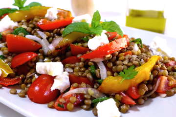Greek Lentil Salad recipe with Feta cheese