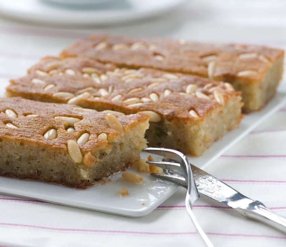 Sweet Semolina Cake With Lemon & Rosewater Recipe — Dishmaps
