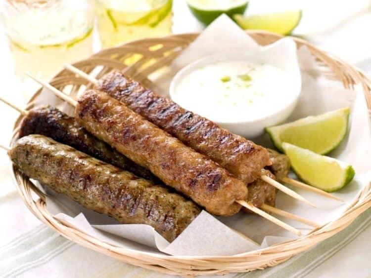 Spicy minced Lamb Kofta Kebab Recipe (Giaourtlou)
