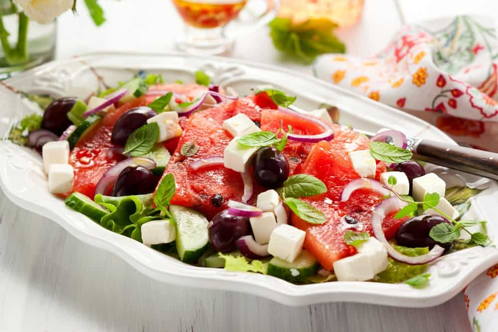 Refreshing Watermelon Feta Salad recipe - My Greek Dish