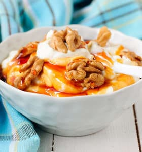 Greek Yogurt with Honey and Walnuts recipe (Yiaourti me meli)