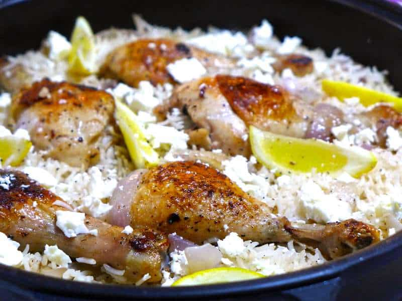 Lemony greek rice pilaf pilafi recipe with chicken thighs my lemony greek rice pilaf pilafi recipe with chicken thighs forumfinder