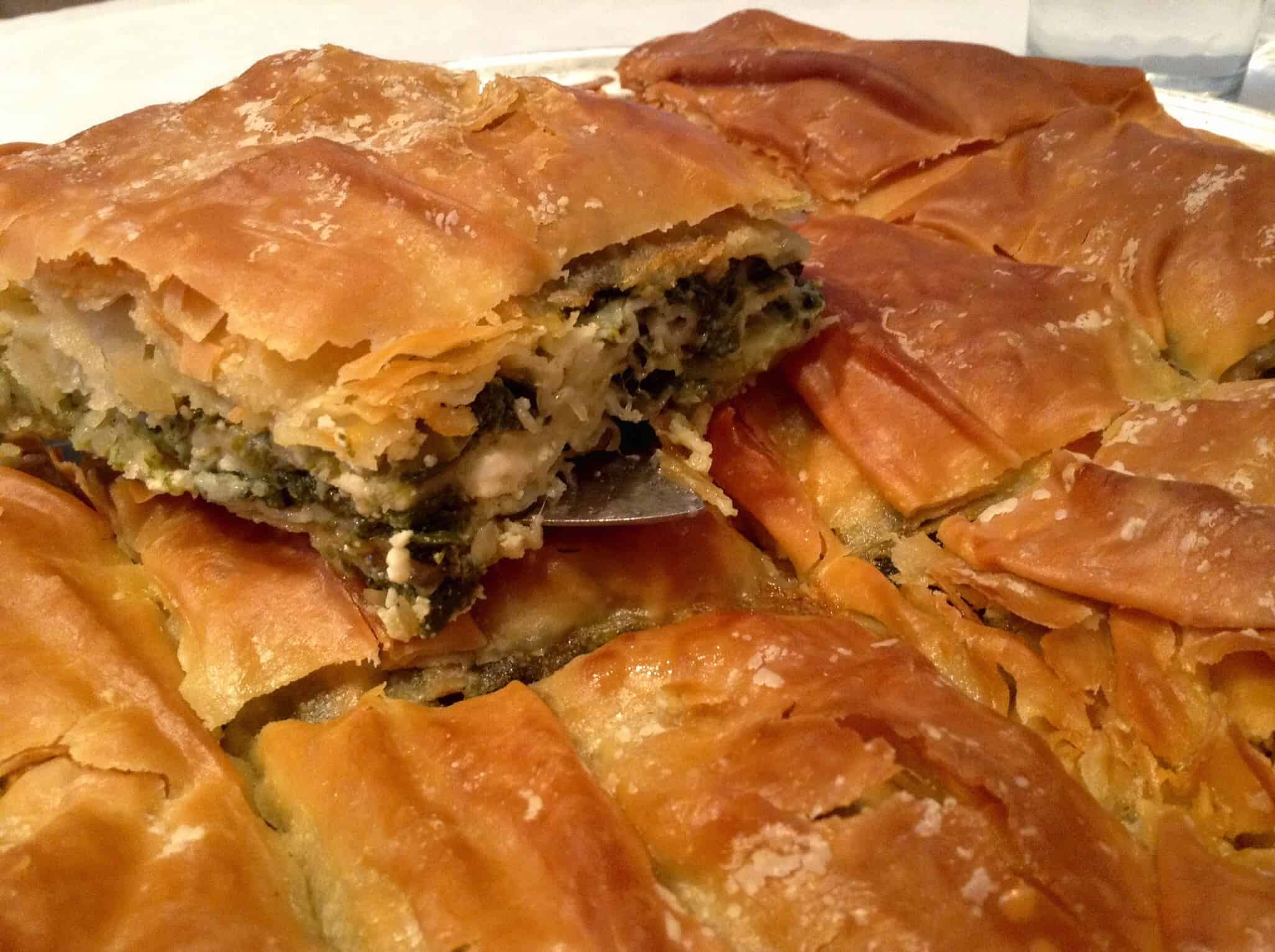 Mygreekdish authentic traditional locally sourced greek recipes traditional greek spanakopita recipe spinach pie with homemade phyllo forumfinder Choice Image