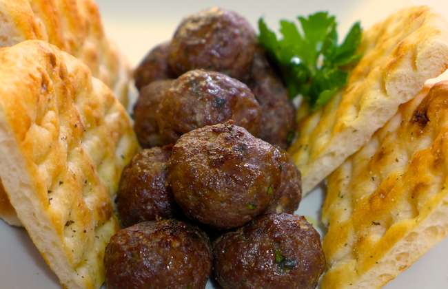 Crispy Greek Lamb Meatballs recipe (Keftedes Arni)