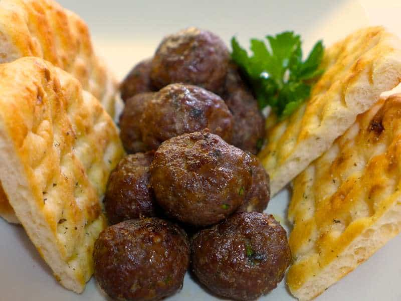 Crispy Greek Lamb Meatballs recipe (Keftedes Arni)