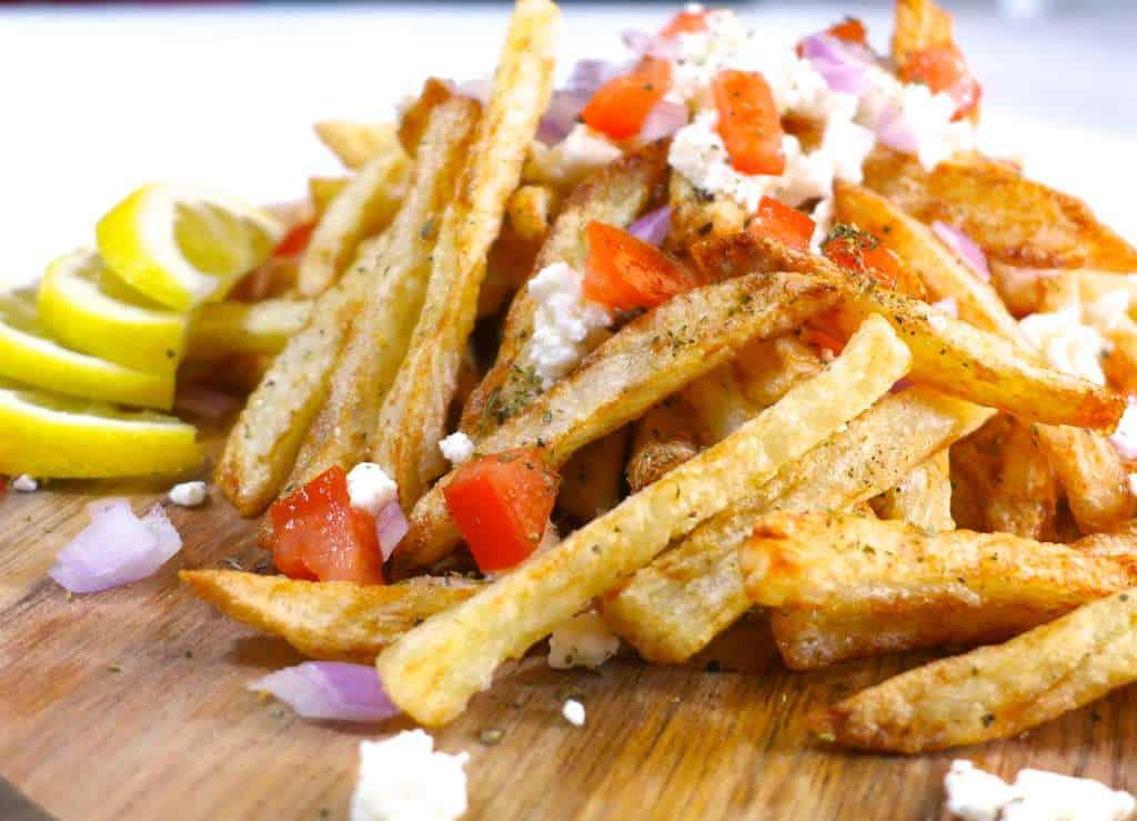 Homemade Baked Greek Fries Recipe With Feta Cheese 2 My Greek Dish