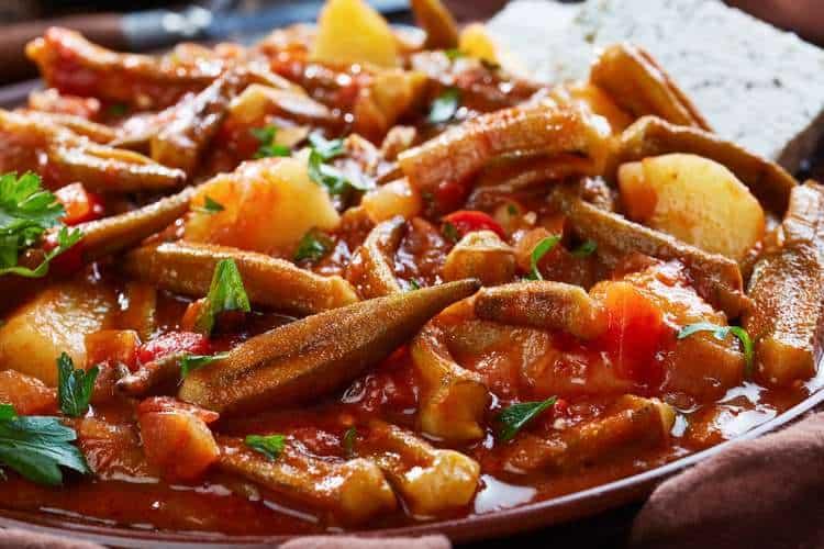 Greek Okra stew recipe (Bamies laderes)
