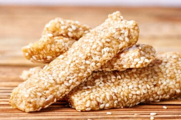 Greek Honey Sesame bars (Pasteli recipe)