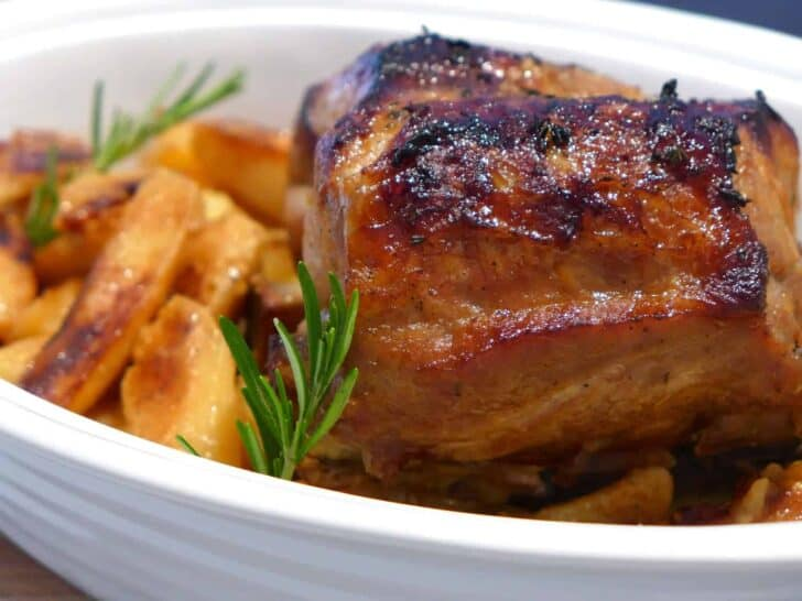 Greek style roast pork