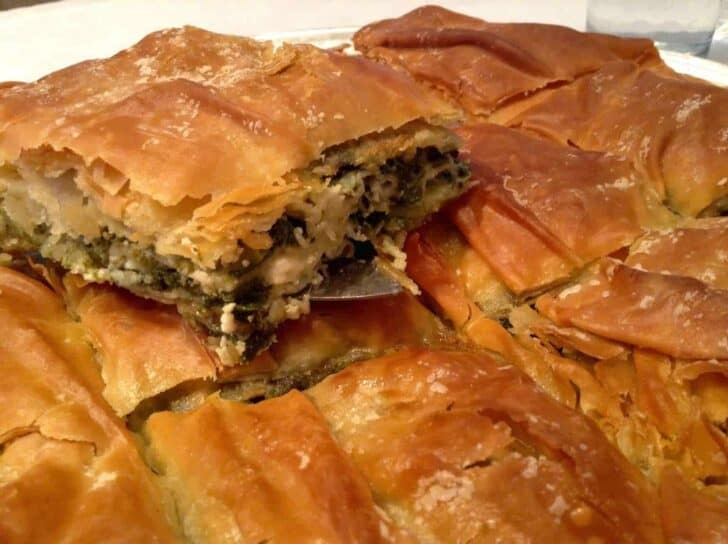 Spanakopita - Greek spinach feta pie