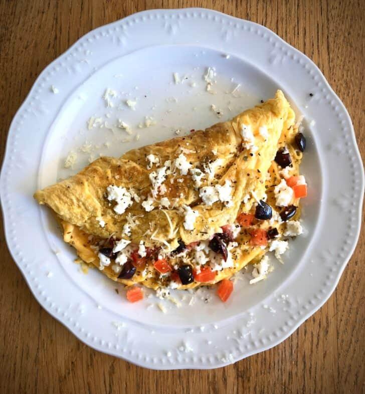 Greek Omelette recipe with Feta