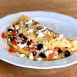 Greek Omelette recipe with Feta cheese