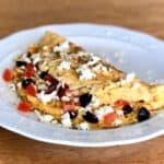 Greek Omelette recipe with Feta cheese