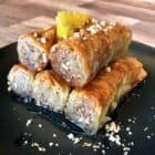 Greek baklava rolls recipe (Saragli)